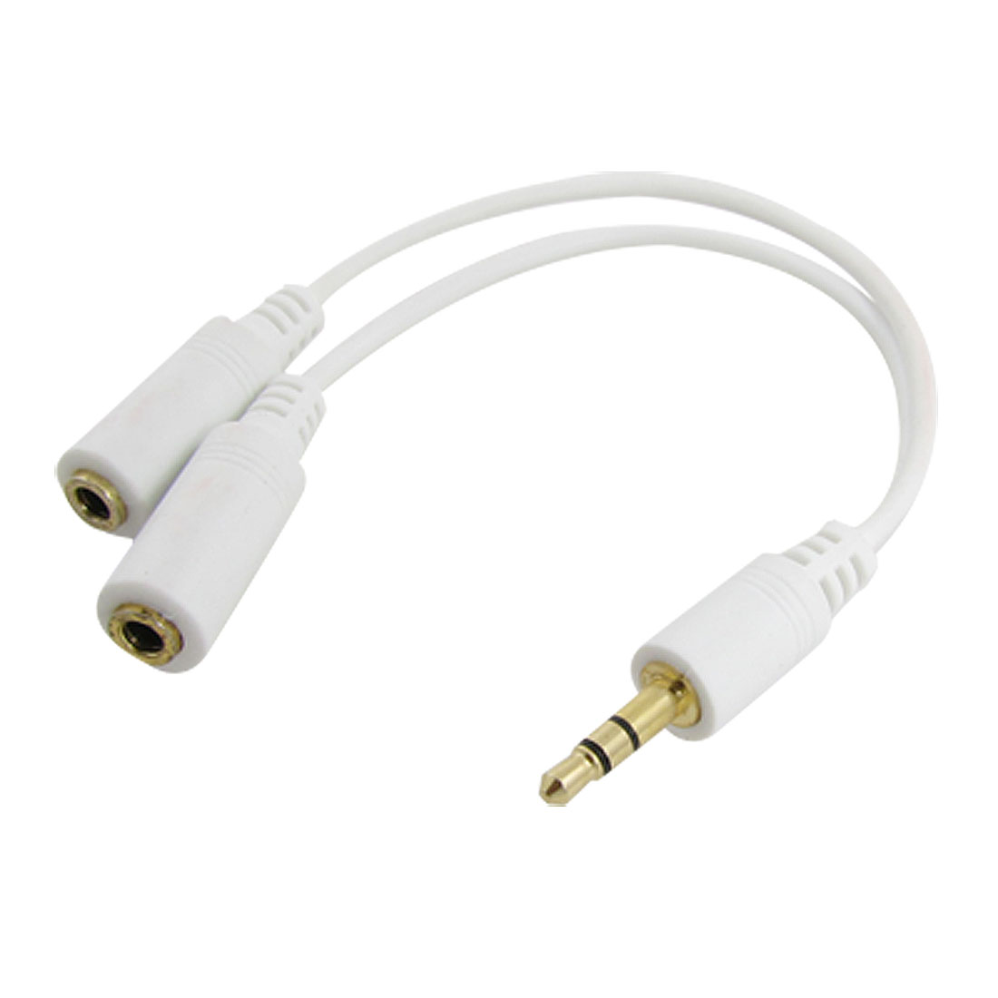3.5mm Male to 2 3.5mm Female Adapter Audio Line Cable