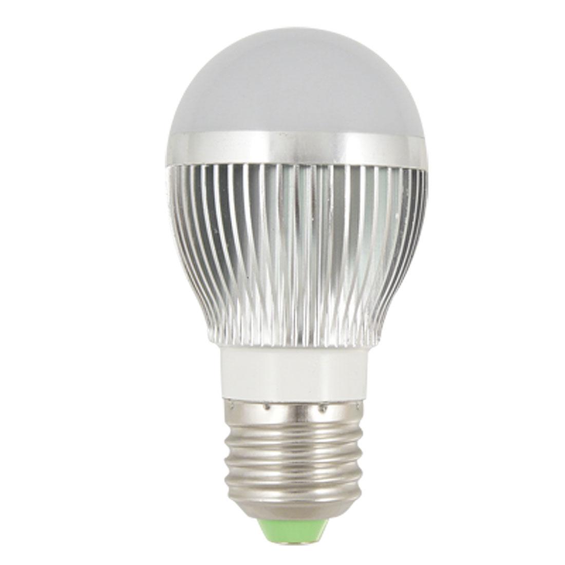 E27 Screw Base 6000K Pure White LED Light Energy Saving Bulb AC 85-220V