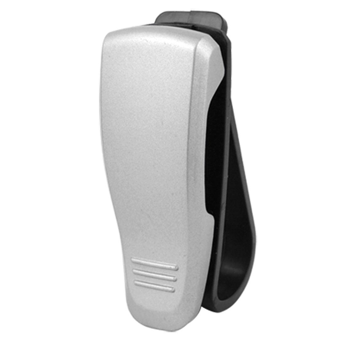 Car Visor Silver Tone Black Plastic Clip for Sunglasses