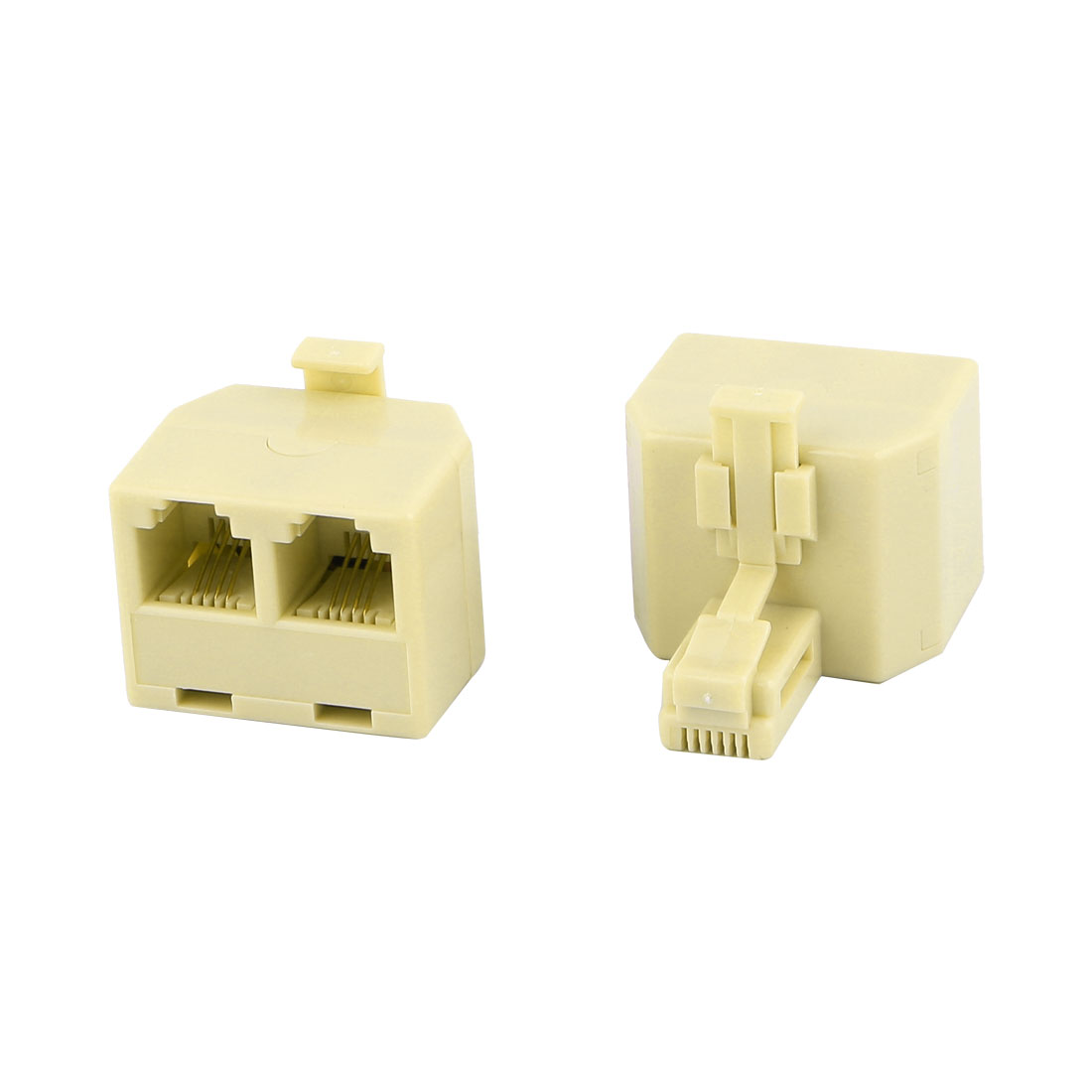 2 Female to Male RJ11 Plug Telephone Cable Adapter 2 Pcs