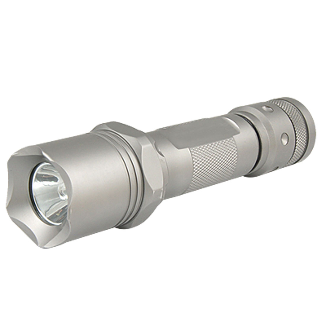 Compass Button Switch Tail White Light LED Flashlight Torch for Camping