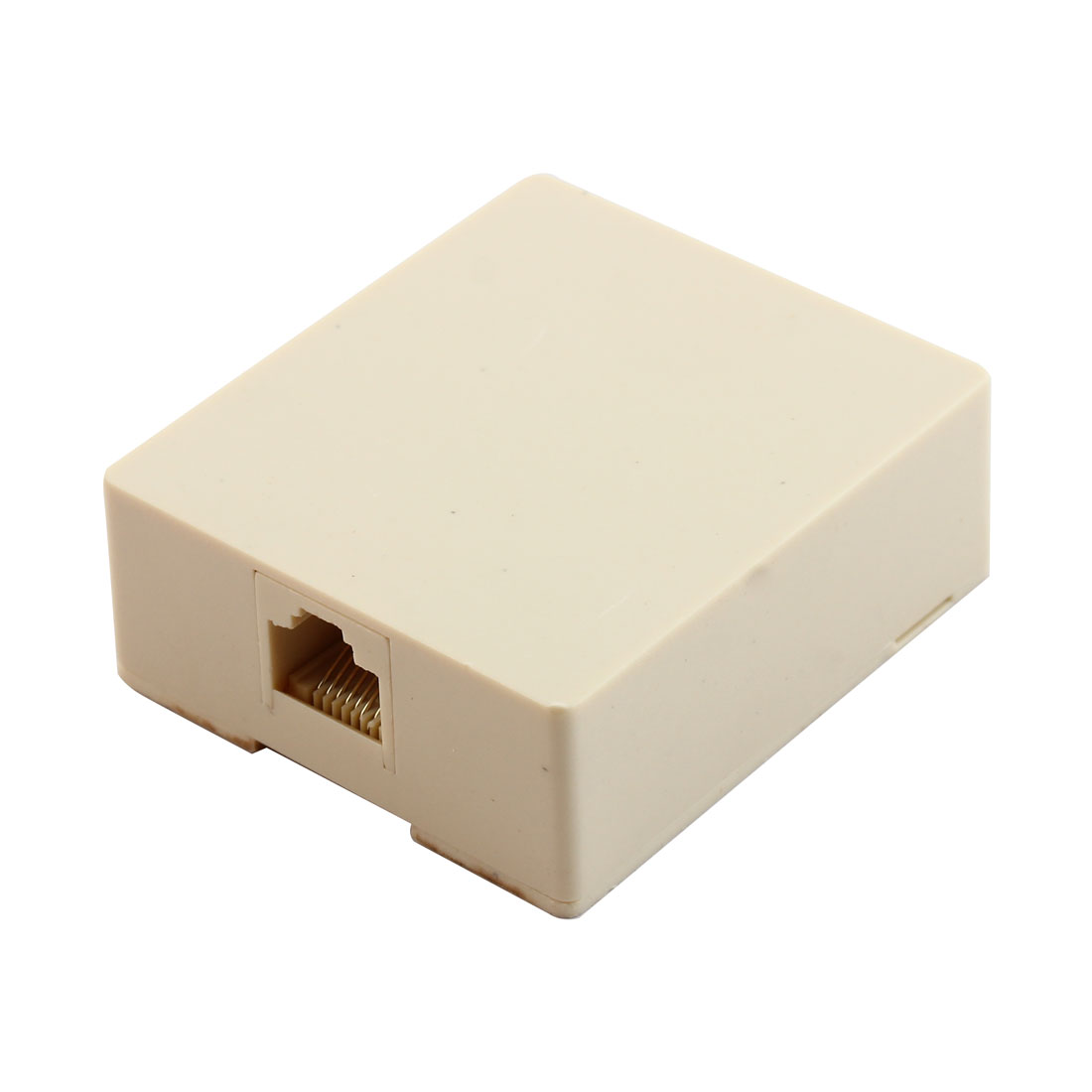 Female RJ45 8 Pin Surface Mount Network Jack w Connect Block Beige