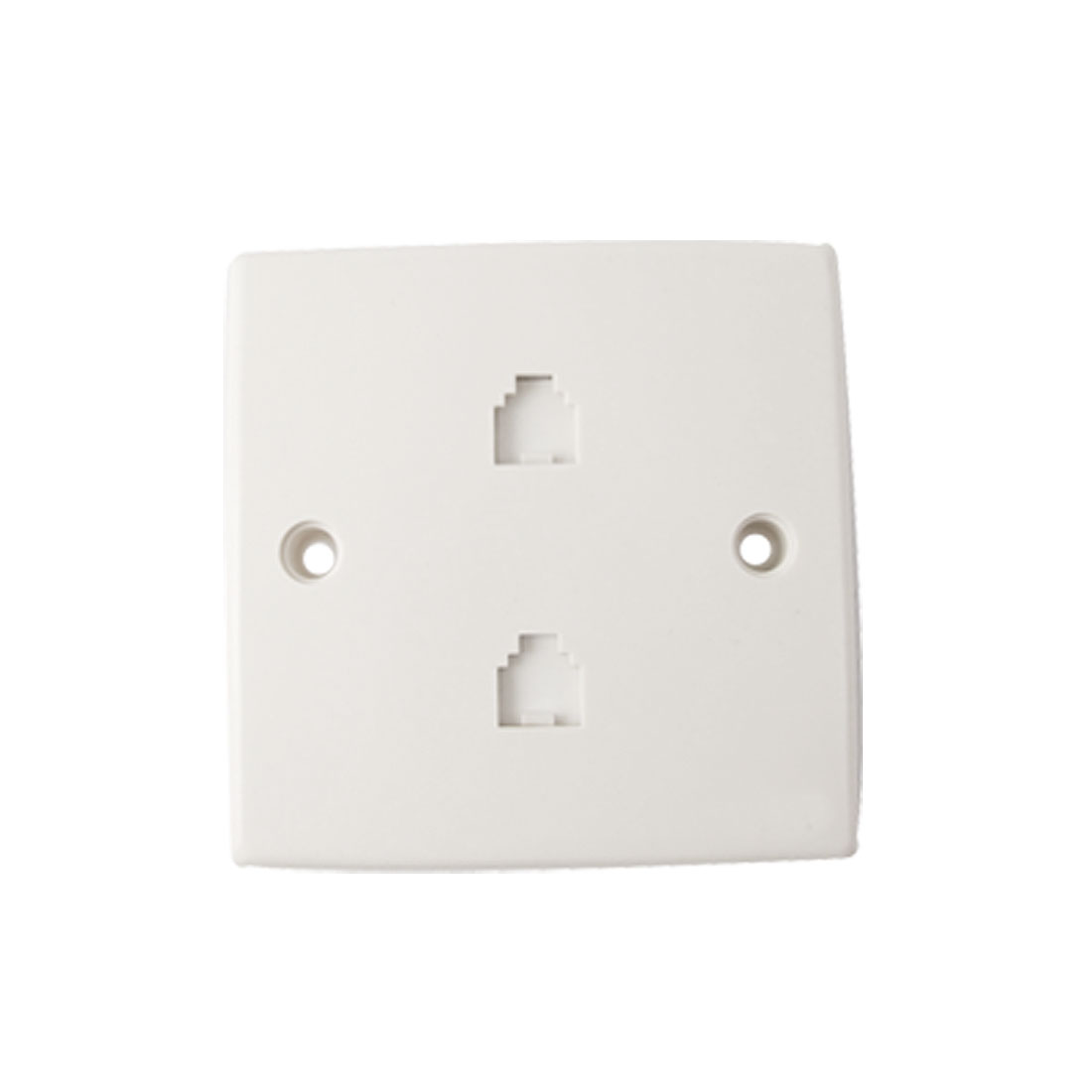 Double Port Telephone Wall Socket Panel for 4 Pin RJ11