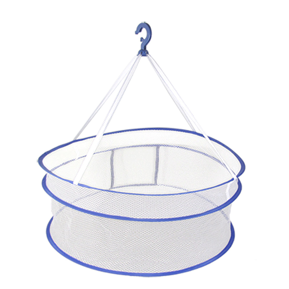 White Netty Round Hanging Clothes Spin Dryer Basket Blue