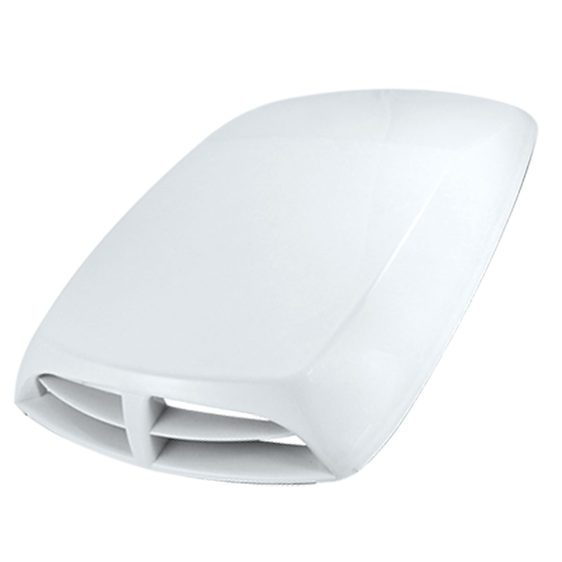 Car Vehicle Air Flow Vent Hood Scoop Decoration White