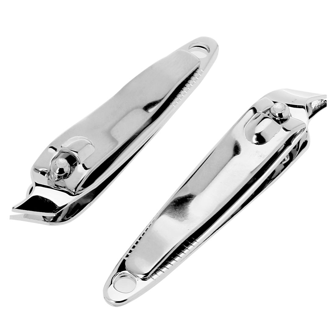 2 Pcs Silver Tone Salon Metal Side Slanted Clipper Cutter Cuticle Trimmer