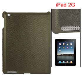 Black Gold Tone Glittery Faxu Leather Coated Hard Plastic Cover for iPad 2G