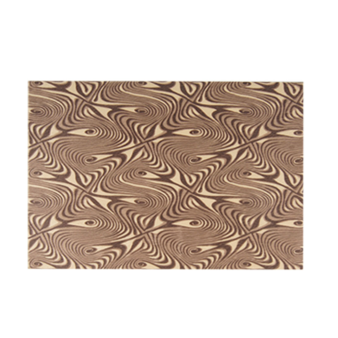 Cell Phone Decor Fingerprints Pattern Brown Plush Fabric Adhesive Sticker