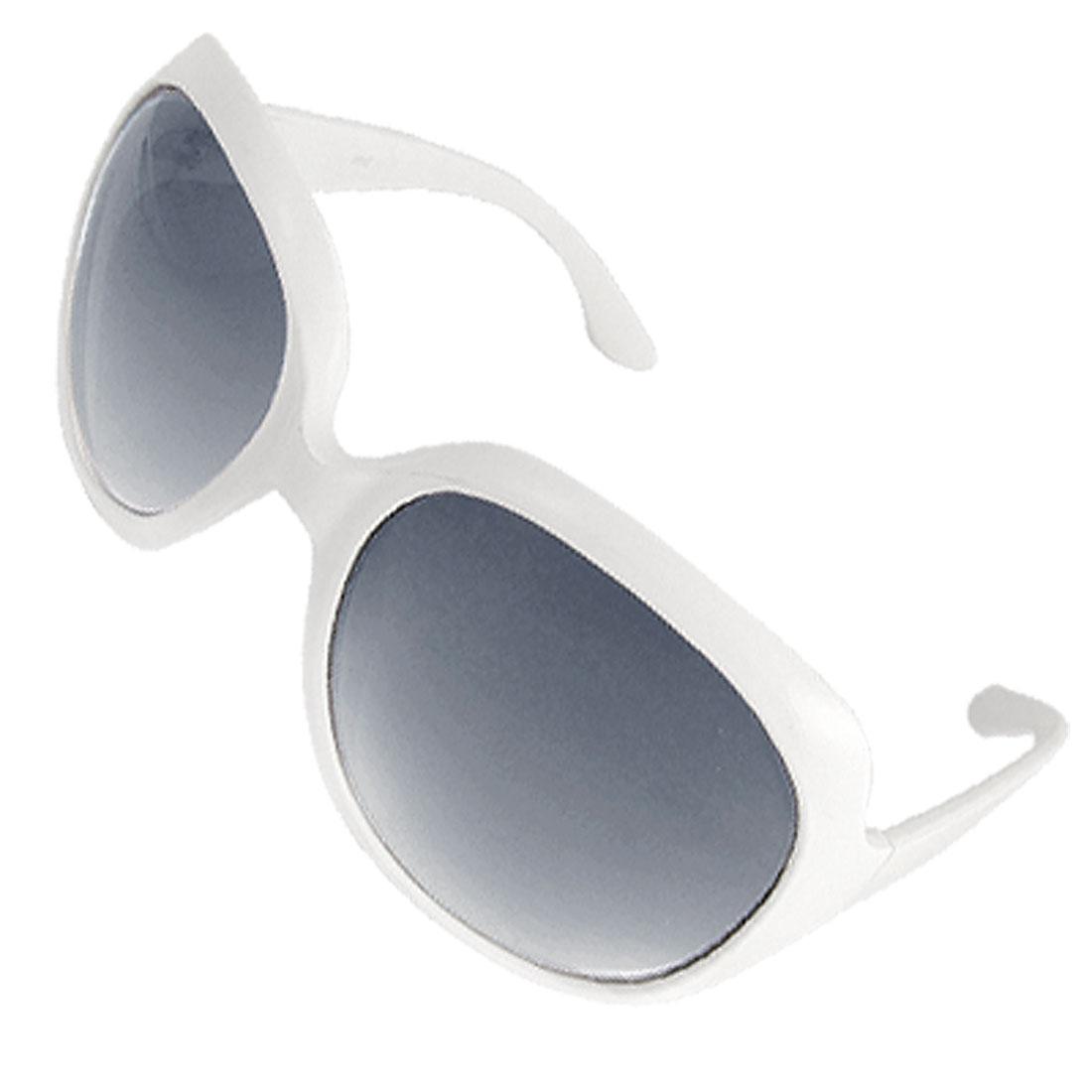 Lady White Full Frame Oversize Gradient Lenses Sunglasses