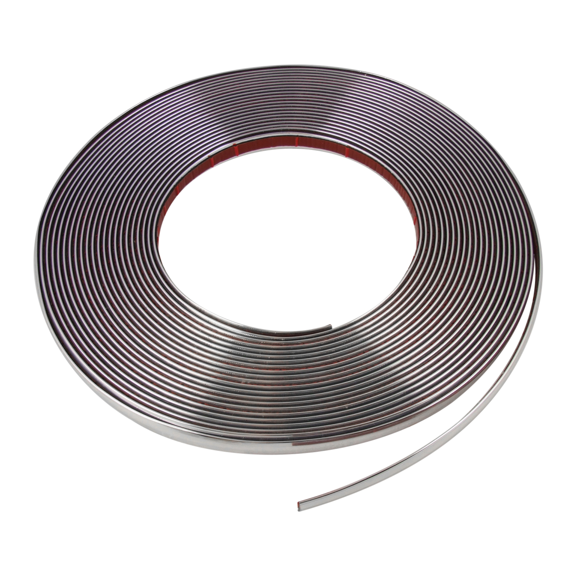 Silver Tone 15mm x 15M Chrome Moulding Trim Strip Decoration for Car
