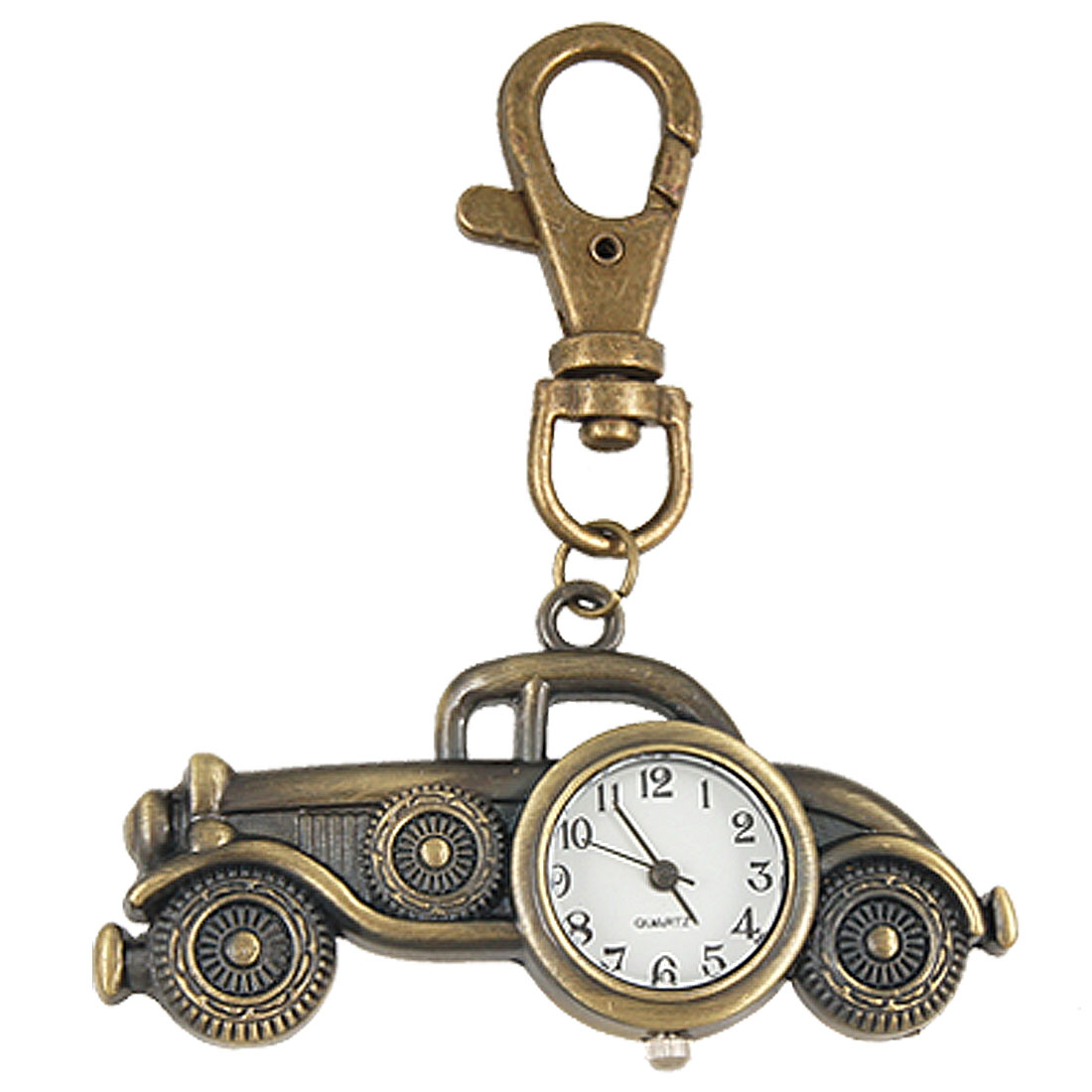 Bronze Tone Metal Car Design Watch Lobster Clasp Key Ring Chain
