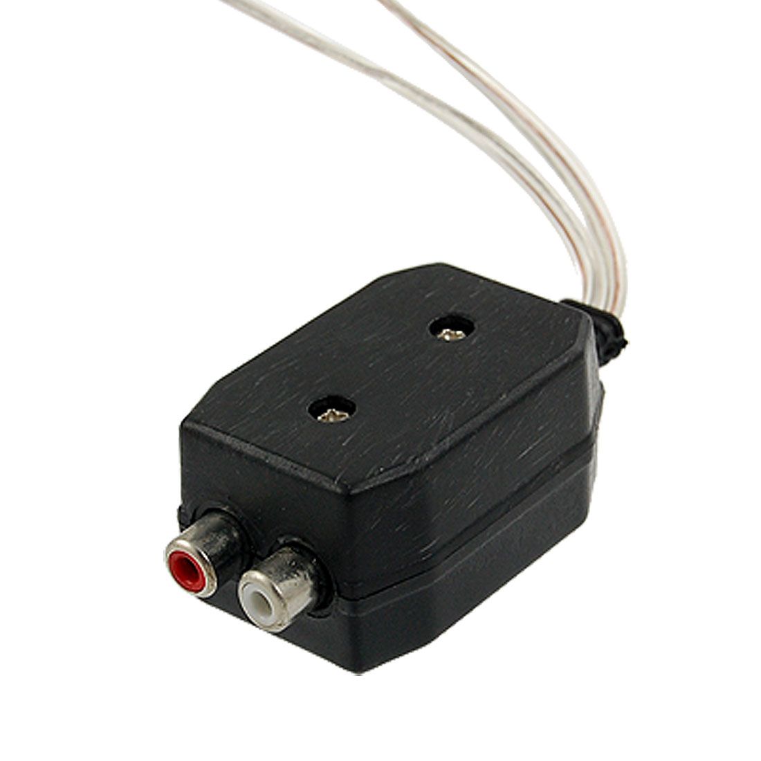 High Speaker Level to 2 RCA Line Out Converter Black