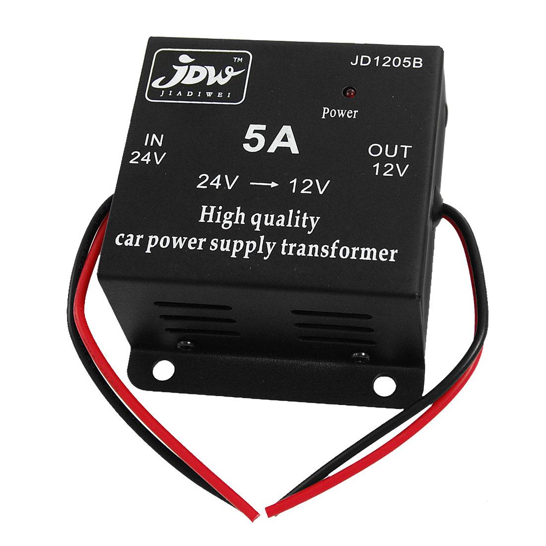5A DC 24V to 12V Car Power Supply Transformer Converter