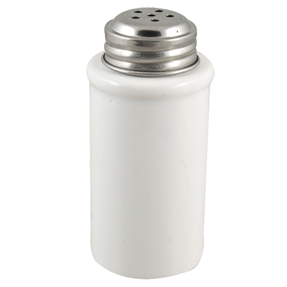 Kitchen 3mm Diameter Outlet Hole Metal Cap White Ceramic Cruet Bottle