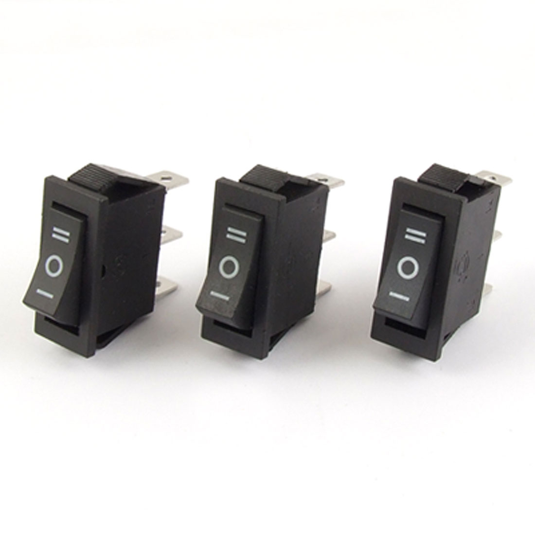3x AC 15A/250V 16A/125V SPDT ON-OFF-ON 3 Position Snap in Rocker Switch UL Listed