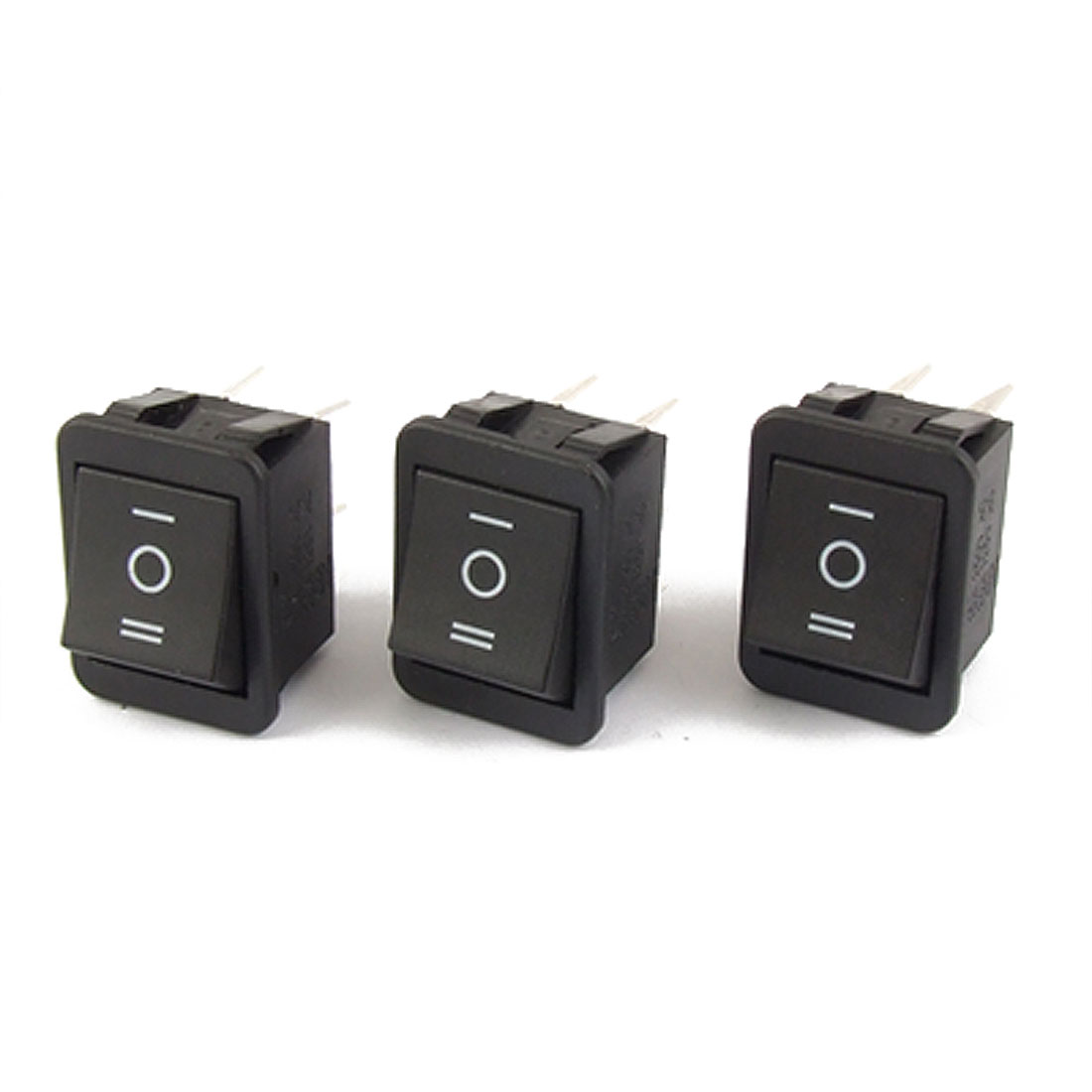 3pcs 6 Pin DPDT ON-OFF-ON 3 Position Snap in Rocker Switch 15A/250V 20A/125V AC