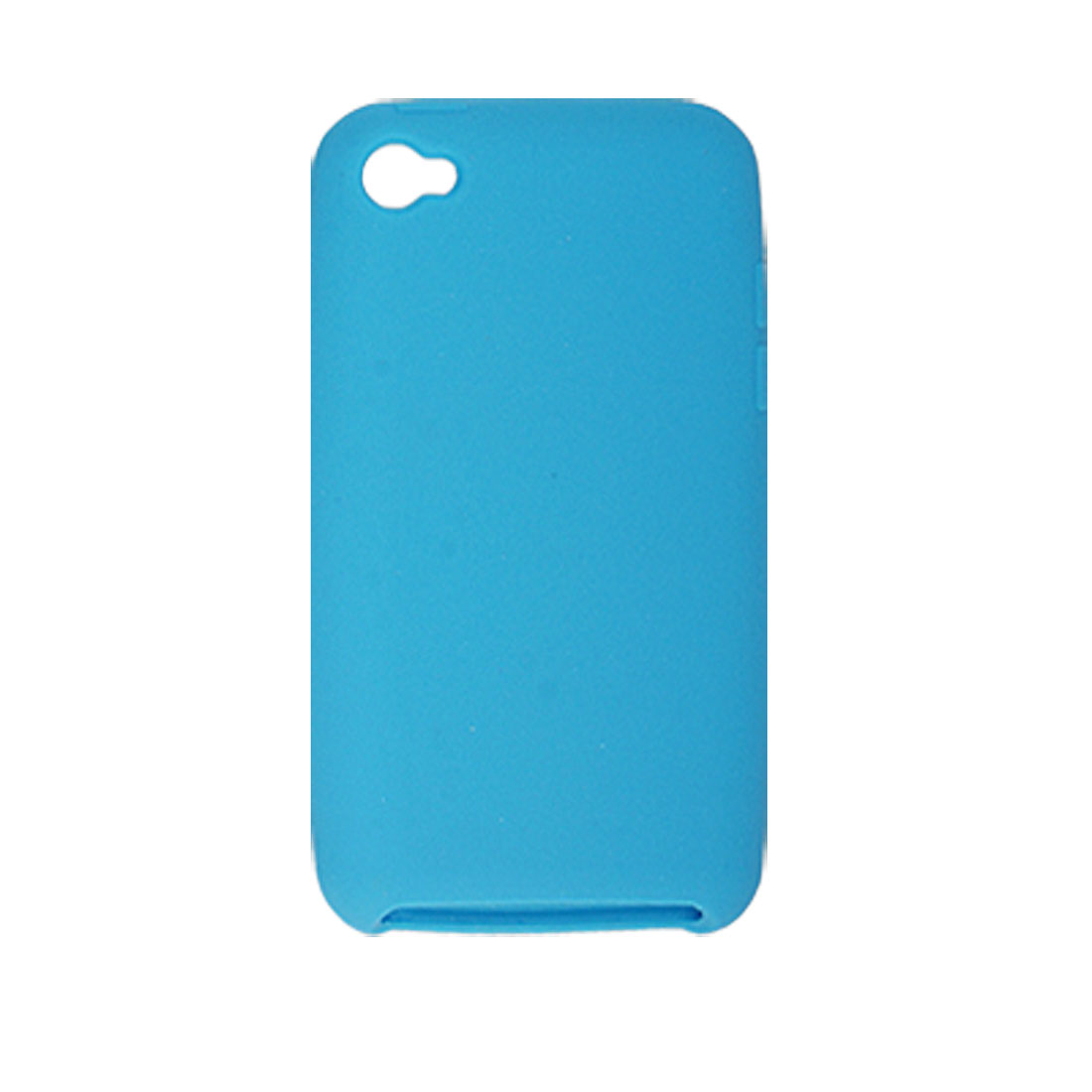 Blue Soft Silicone Skin Case Protector for iPod Touch 4G