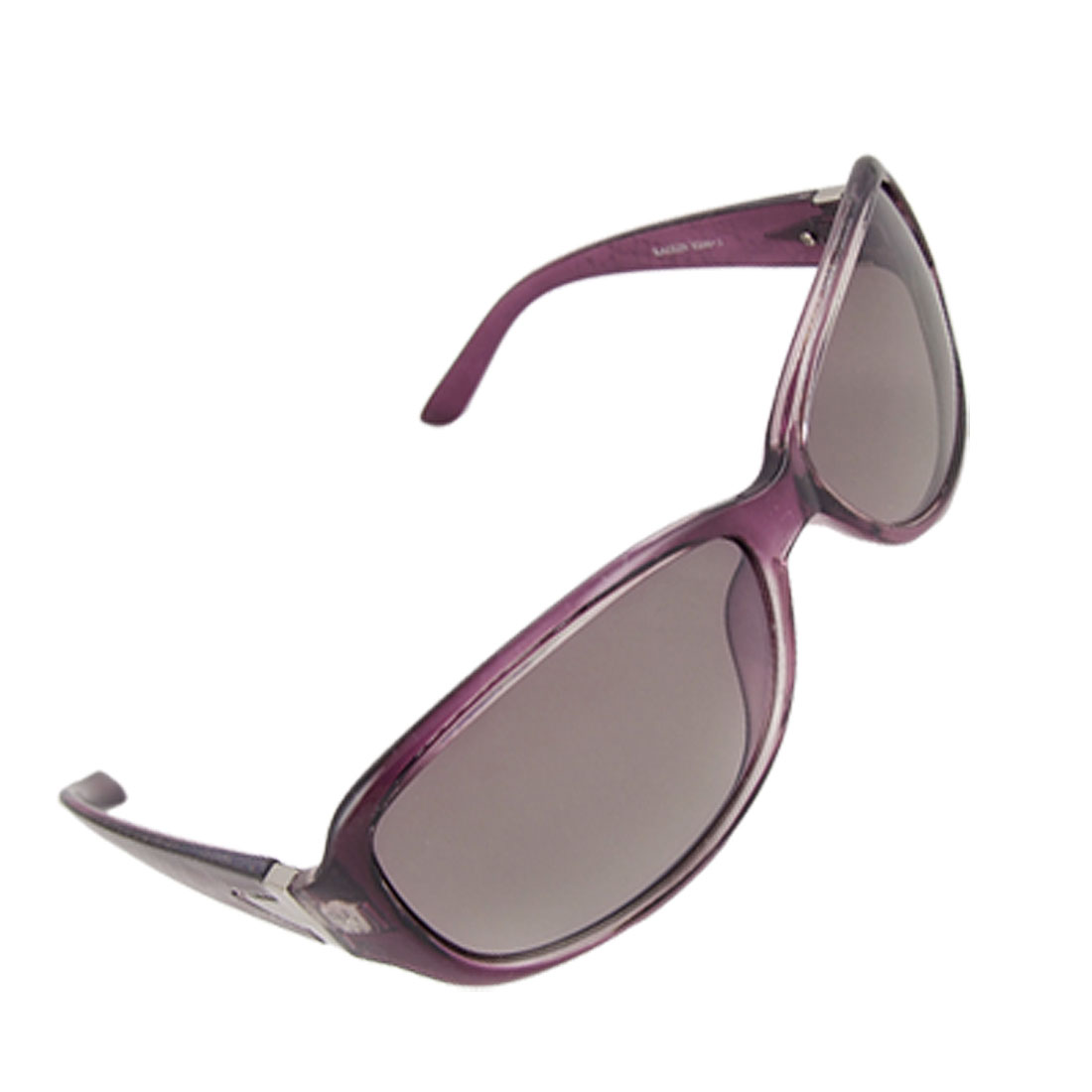 Purple Broad Temple Tinted Lens Sunglasses for Lady