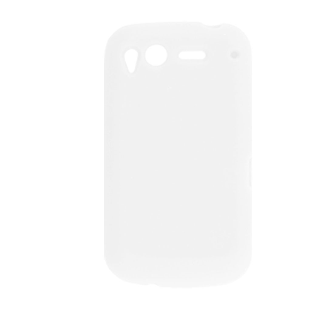 Protective White Silicone Skin Cover Case for HTC Desire S