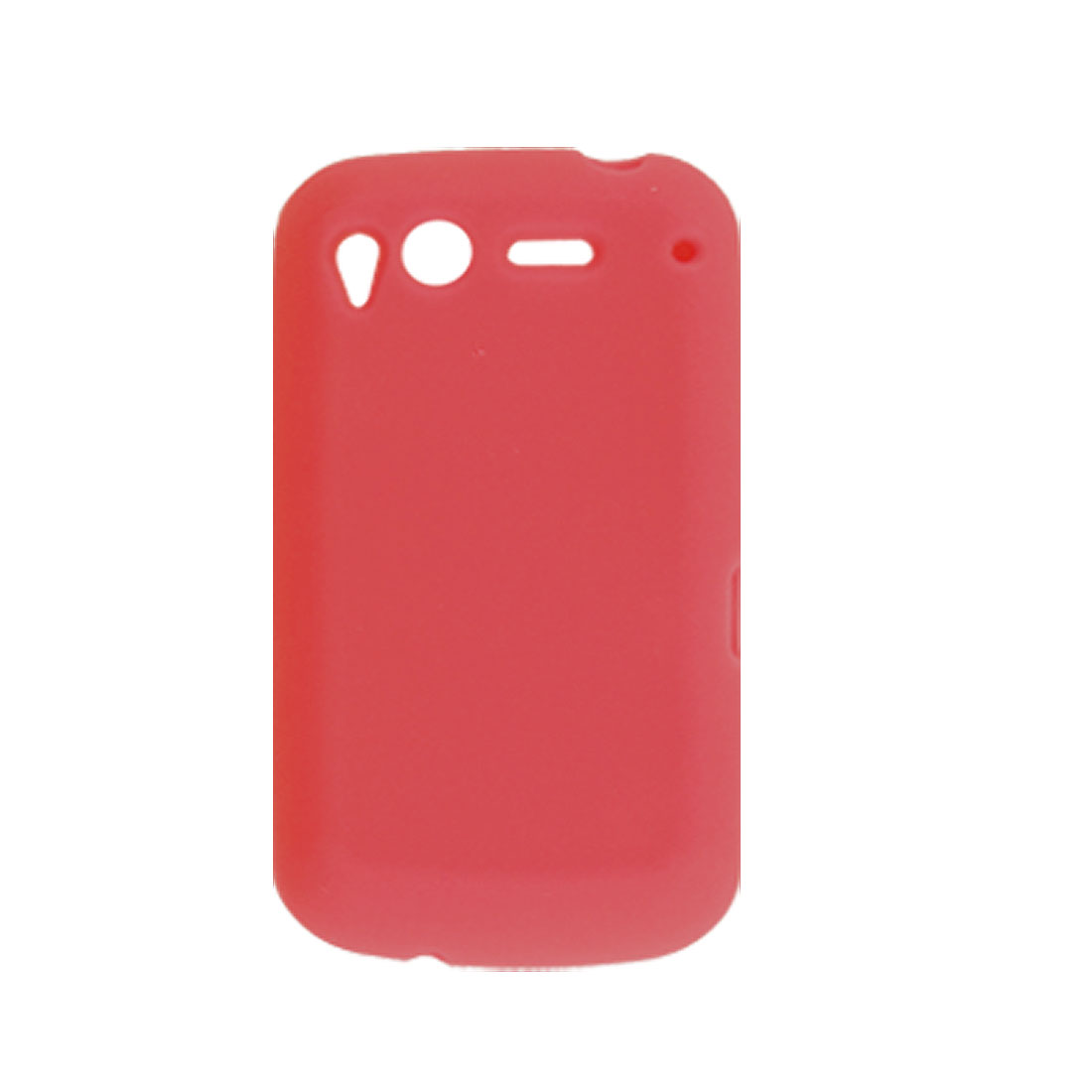 Soft Silicone Red Cover Protector for HTC Desire S