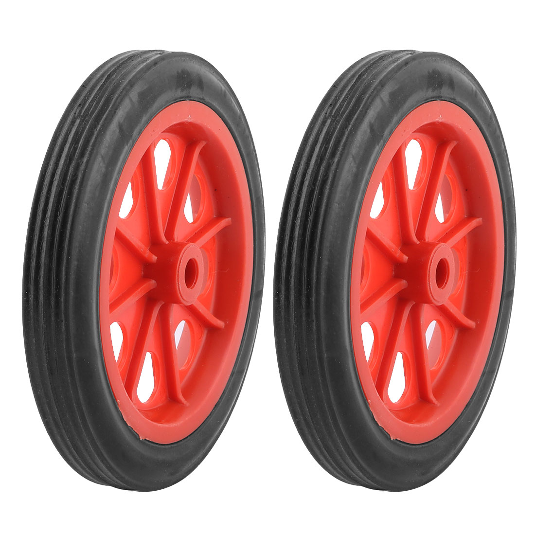 "2 Pcs Replaceable Shopping Basket Cart 4.4"" Wheels Red Black"