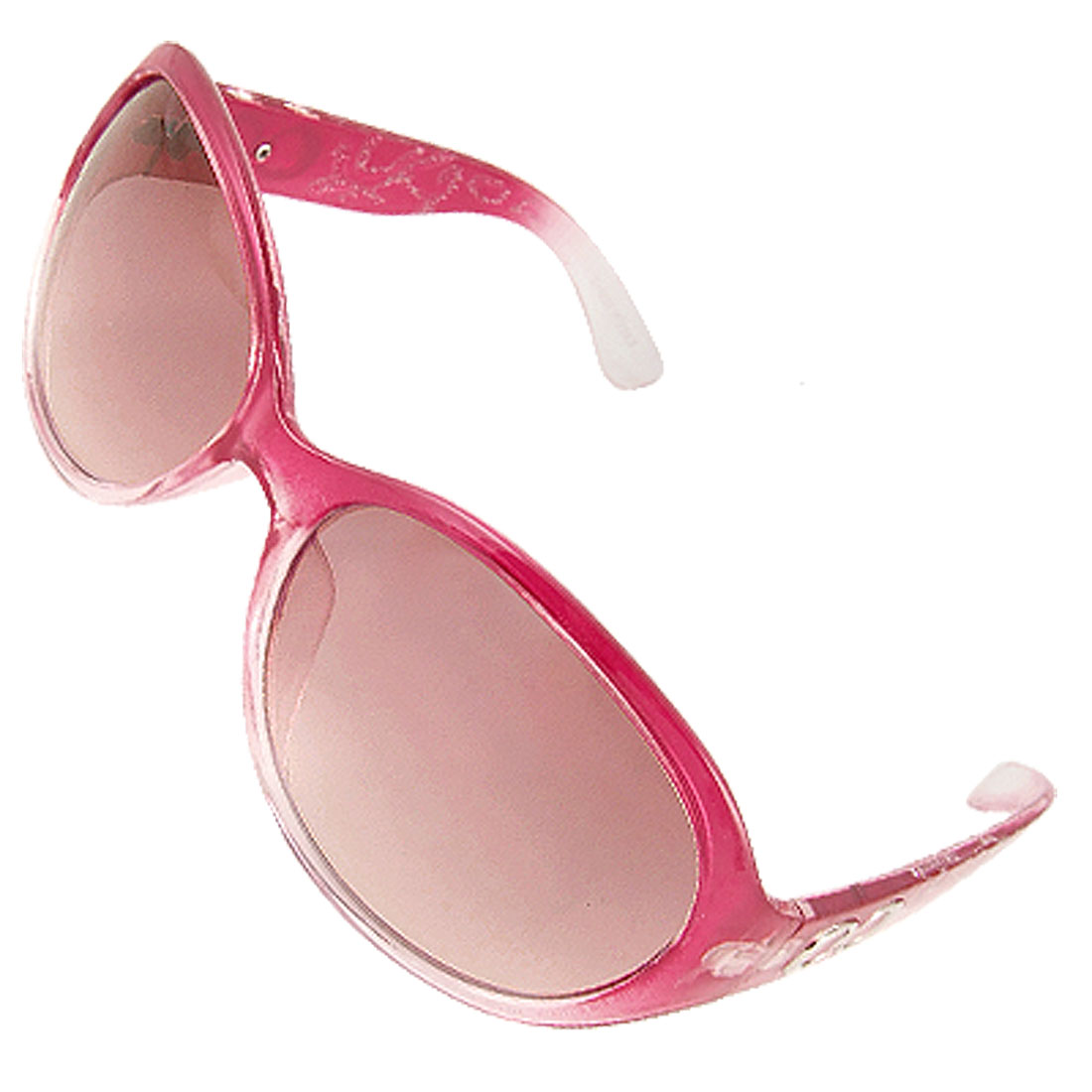 Fuchsia Frame Gradient Tinted Lens Sunglasses for Lady