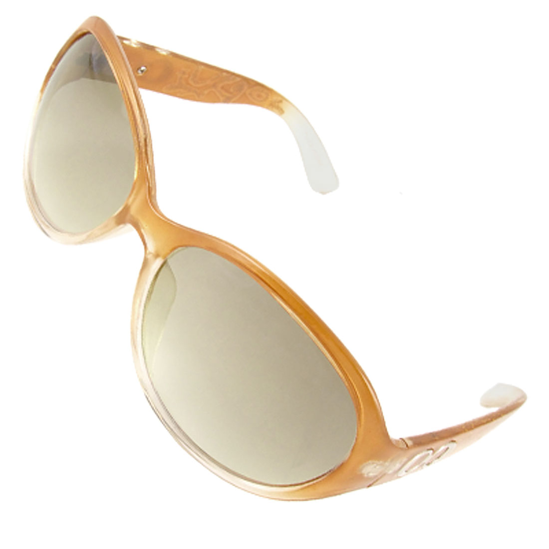 Lady Gradient Light Brown Frame Colored Lens Sunglasses
