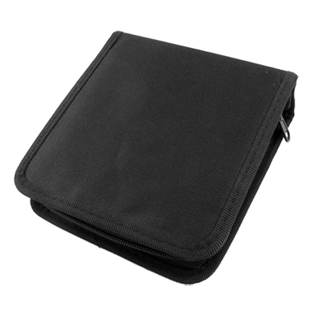 Black Nylon Zipper Up 40 Pcs Capacity CD DVD Bag Holder