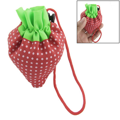 Reusable Straberry Style Foldable Shopping Tote Shoulder Bag