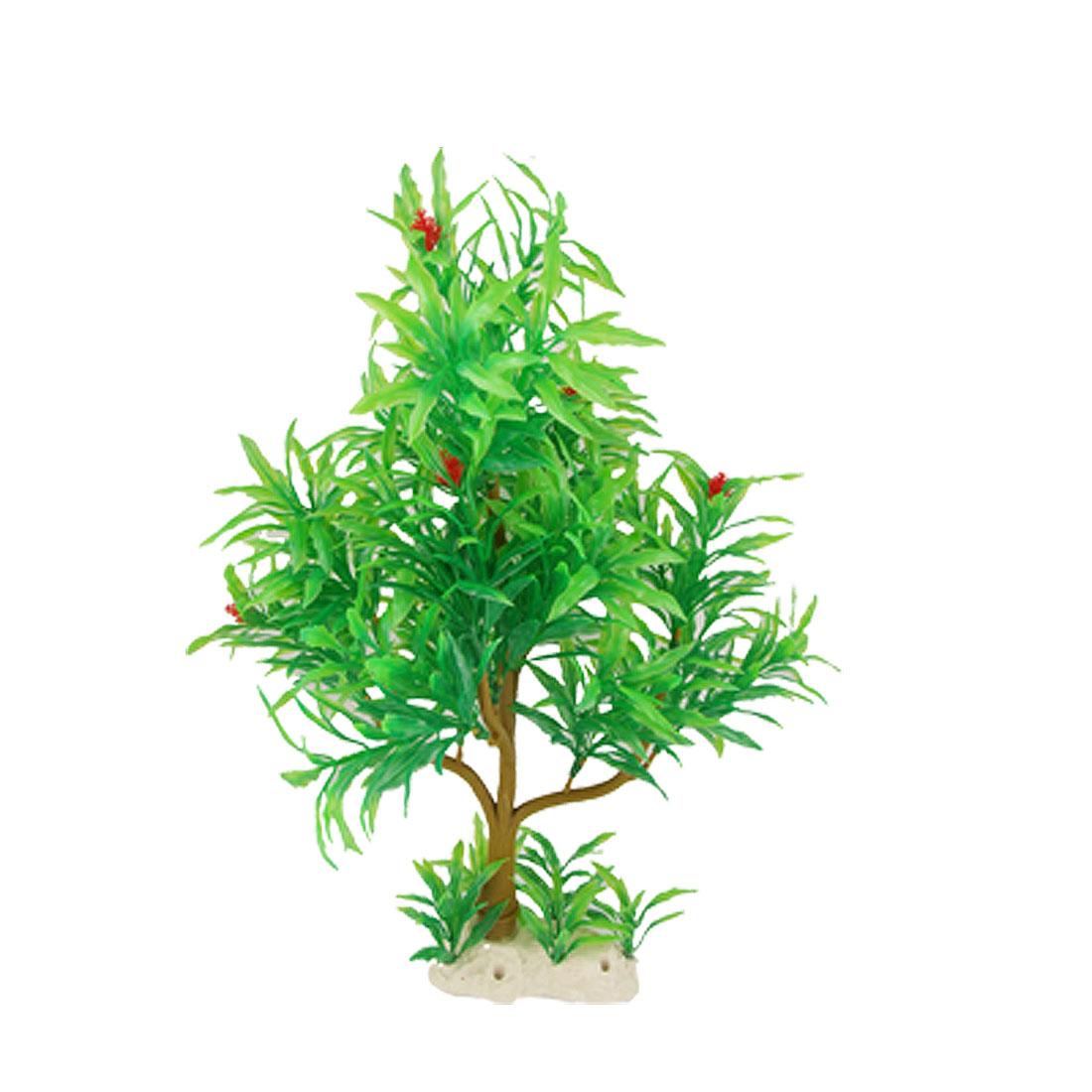 Fish Tank Aquarium Plastic Tree Plant Ornament Green