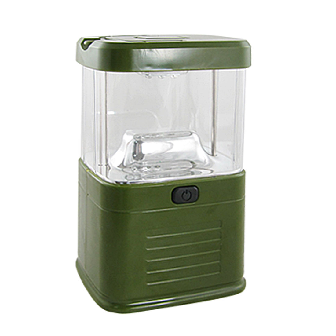 Green Clear Shell Hiking White 15 LEDs Light Lantern