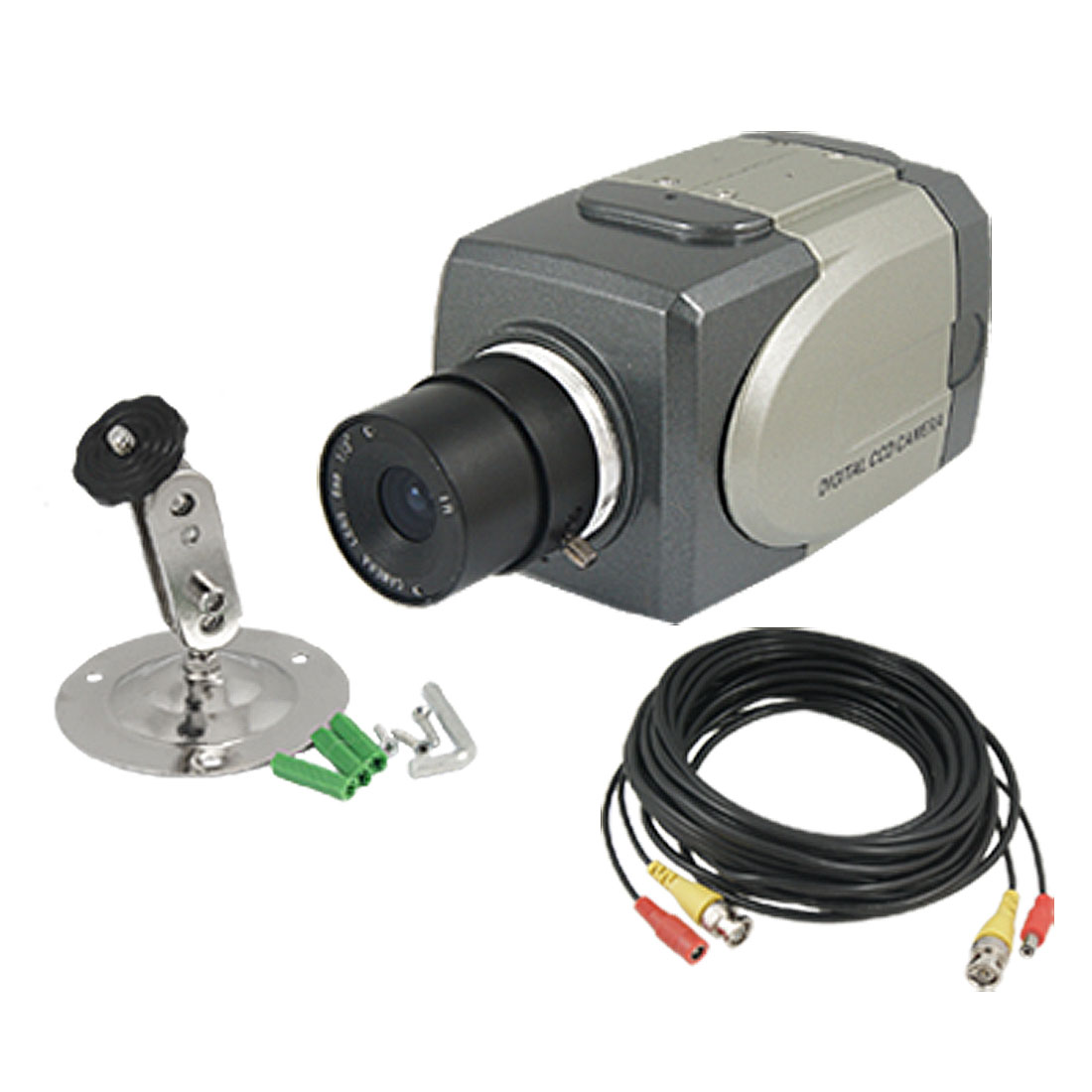 "6mm Lens 1/4"" CCD Security CCTV IR Digital Camera w 10m BNC DC Cable"