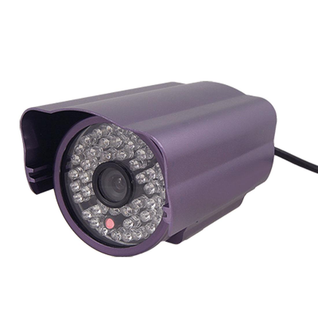 """6mm Lens 48 F5 LEDs 1/4"""" CCD PAL IR Security CCTV Camera"""