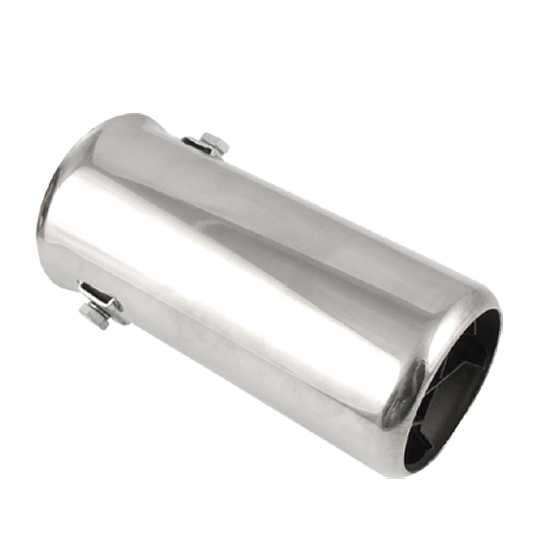 Car Auto Silver Tone Round Exhaust Muffler Extension Pipe