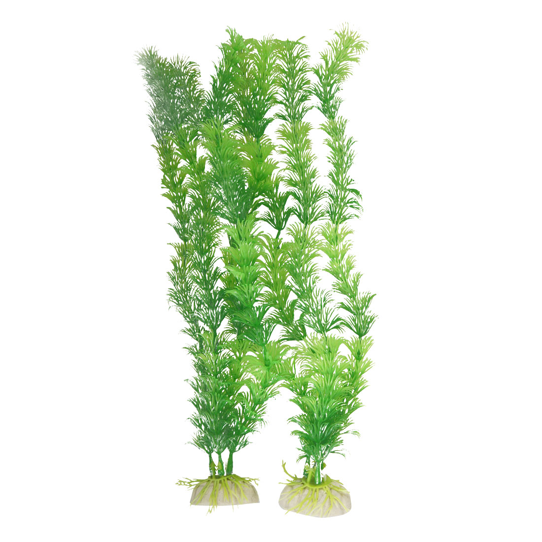 Fish Tank Green Aquascaping Plastic Ornament Plant 2 Pcs Bajzb
