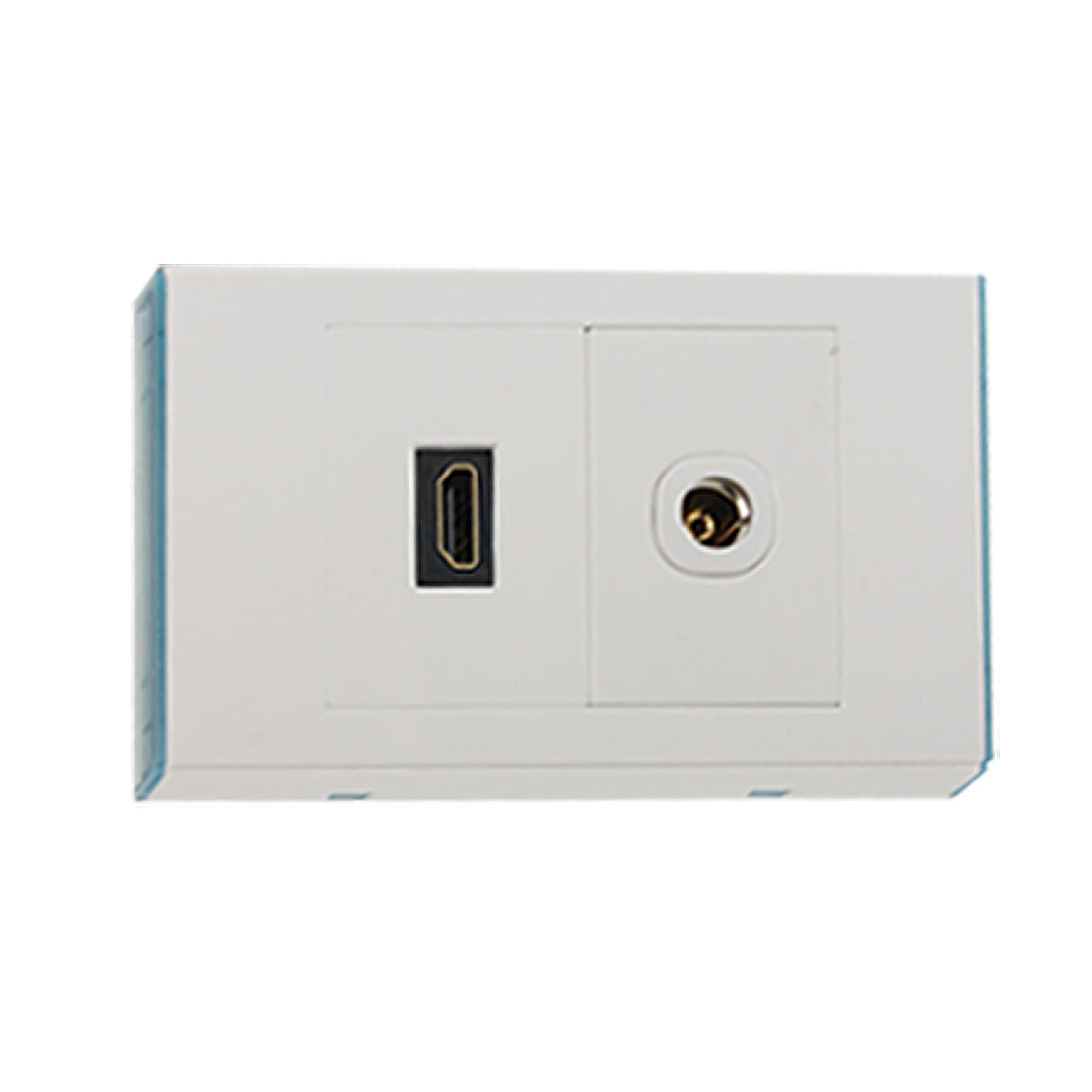 TV Coaxial Socket HDMI Outlet Wall Plate Panel Cover White