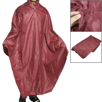 Burgundy PVC Plastic Bike Bicycle Water Resistance Raincoat