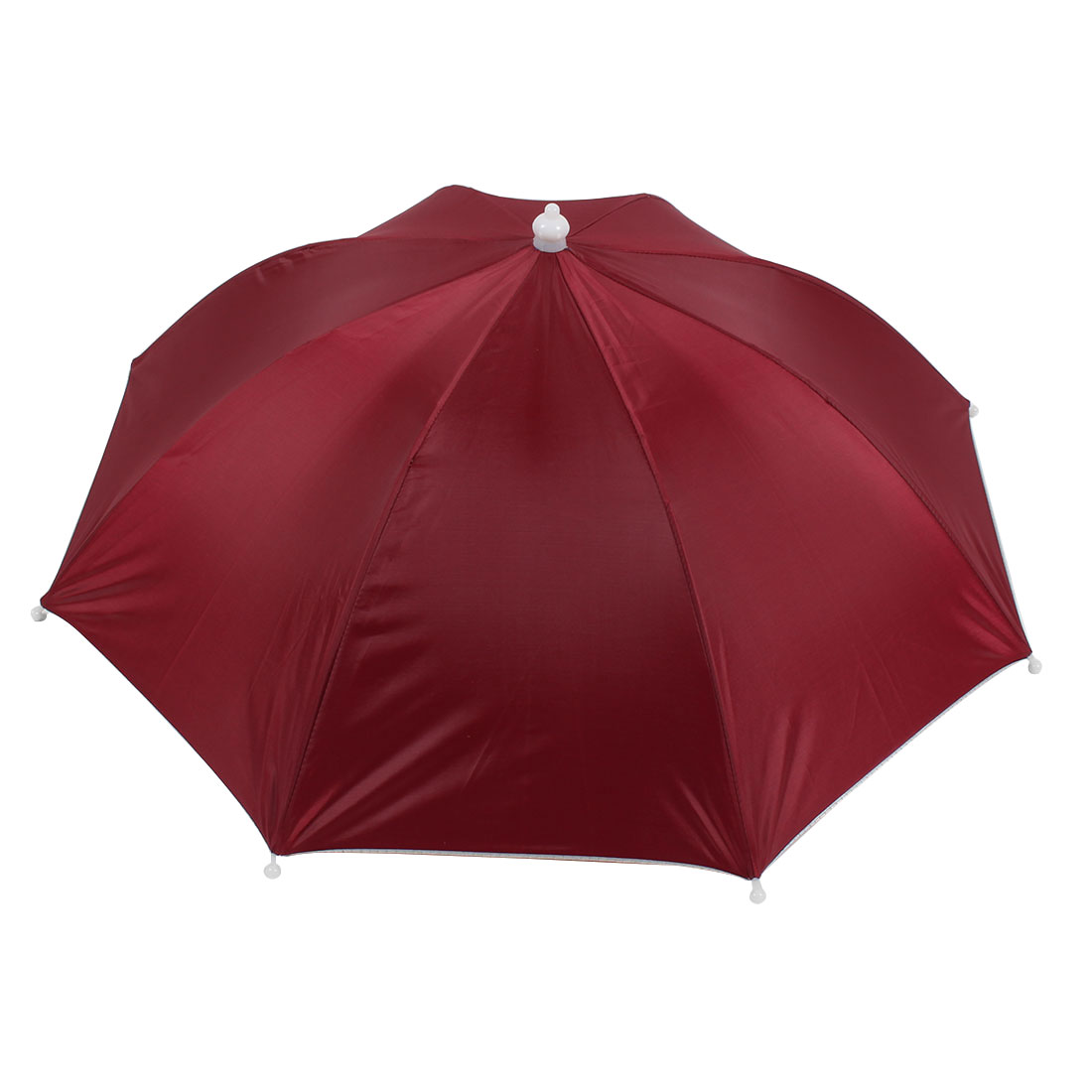 Outdoor Sports Fishing Umbrella Hat Headwear Burgundy