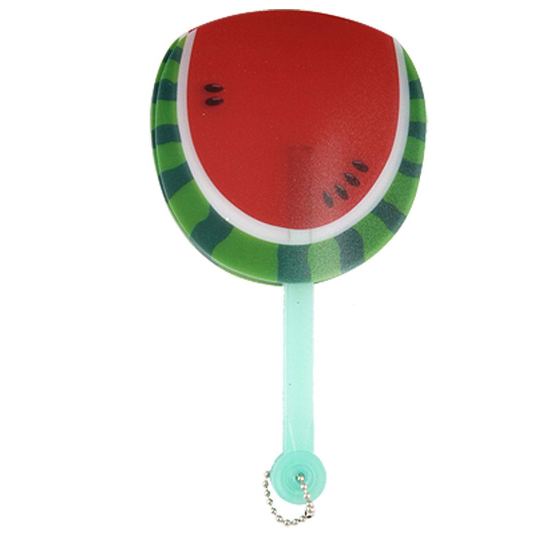 Watermelon Pattern Light Green Shaft Plastic Folding Hand Fan