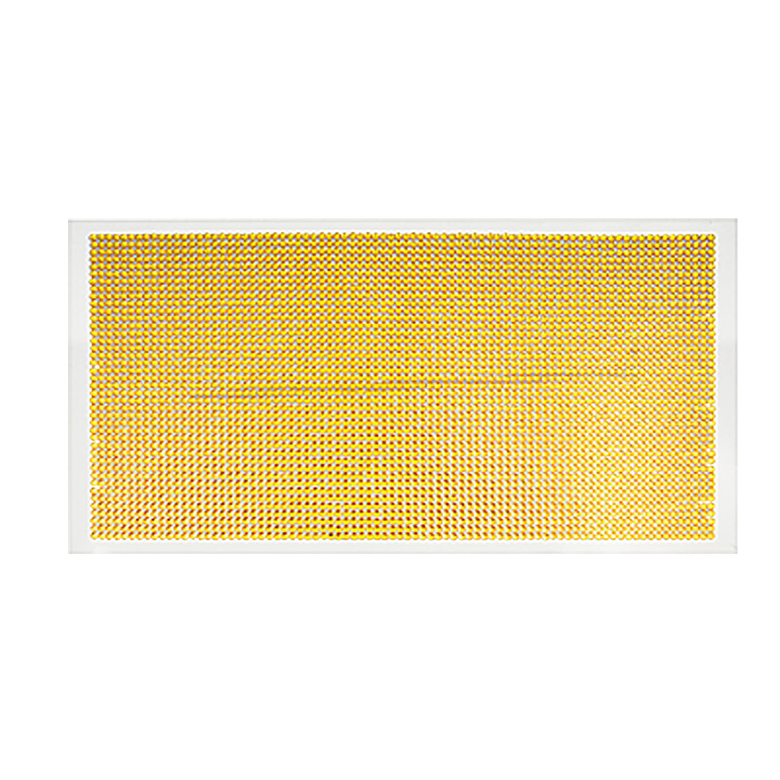 Glittery Yellow Plastic Crystal Self Adhsive Sticker Sheet for Car