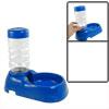 Travel Portable Blue Plastic Pet Bowl + Bottle Feeder