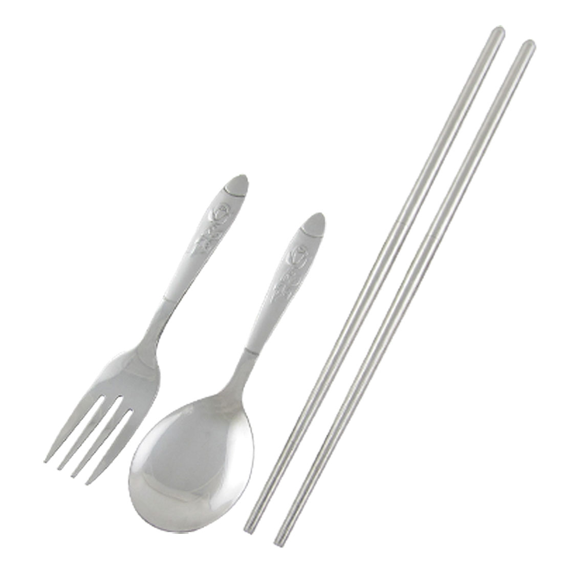 Outdoor Portable Stainless Steel Chopsticks Spoon Fork Tableware Set