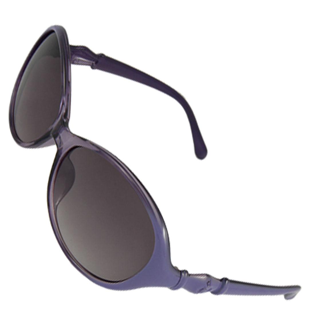 Indigo Blue Plastic Frame UV Protection Lens Sunglasses for Lady