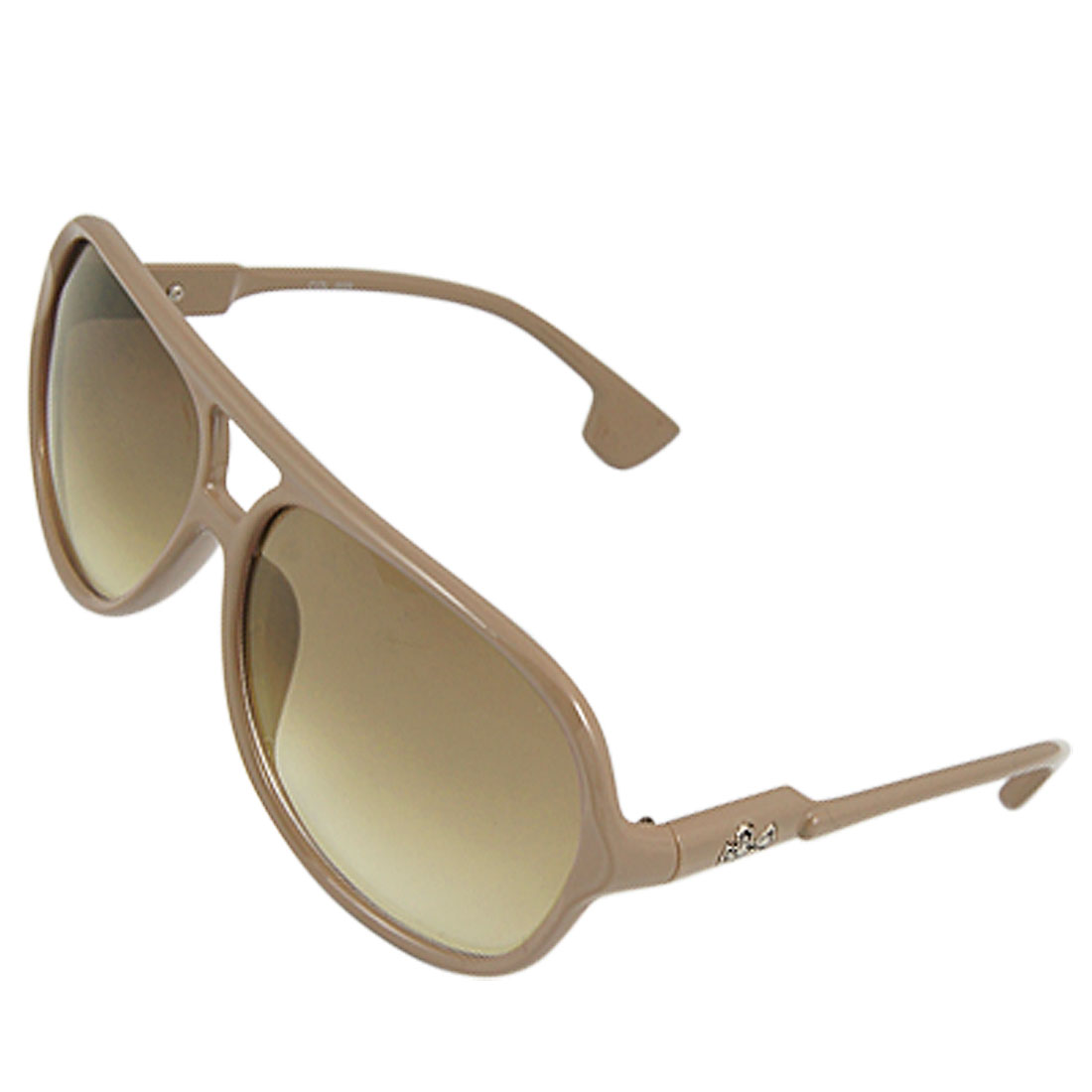 Lady Multi Coating Tan Lens Dual Bridge Frame UV Protection Sunglasses
