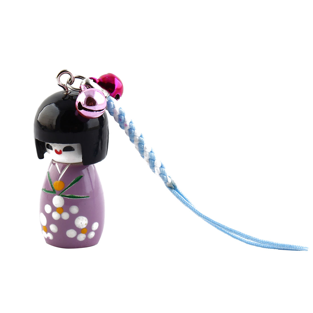 Purple Cartoon Japenese Girl Doll Pendant Strap Hanger for Cell Phone Mp4