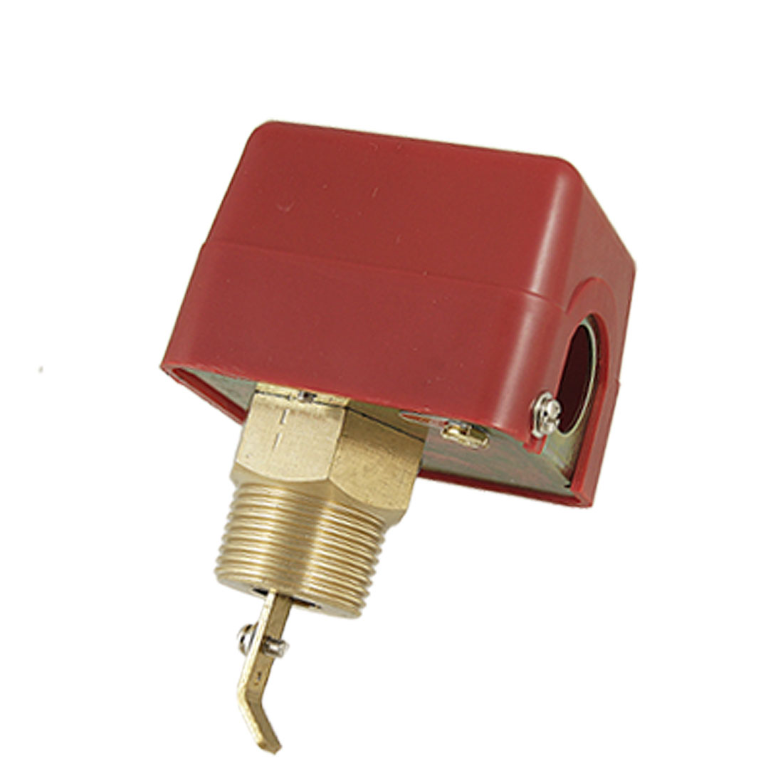 "AC 250V 15A SPDT G1"" Water Flow Valve Paddle Control Switch Red"