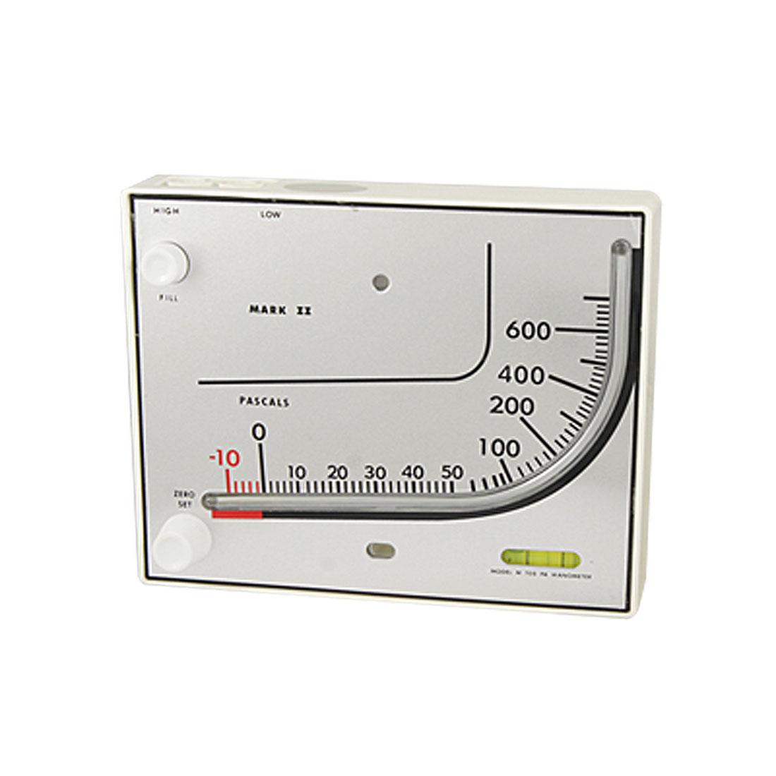 -10-700Pa Differential Pressure Inclined Liquid Manometer Gauge