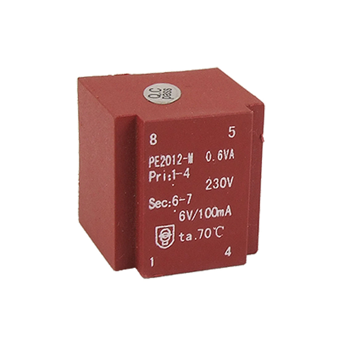 Single-way Output Encapsulated Transformer PE2012-M Red