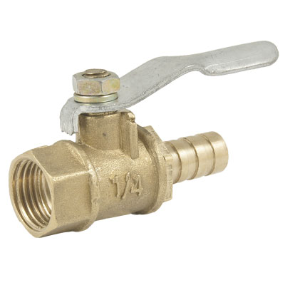 "1/2"" Female BSP Thread to Hose Tail 1/4"" Gas Flow Hole Ball Valve"
