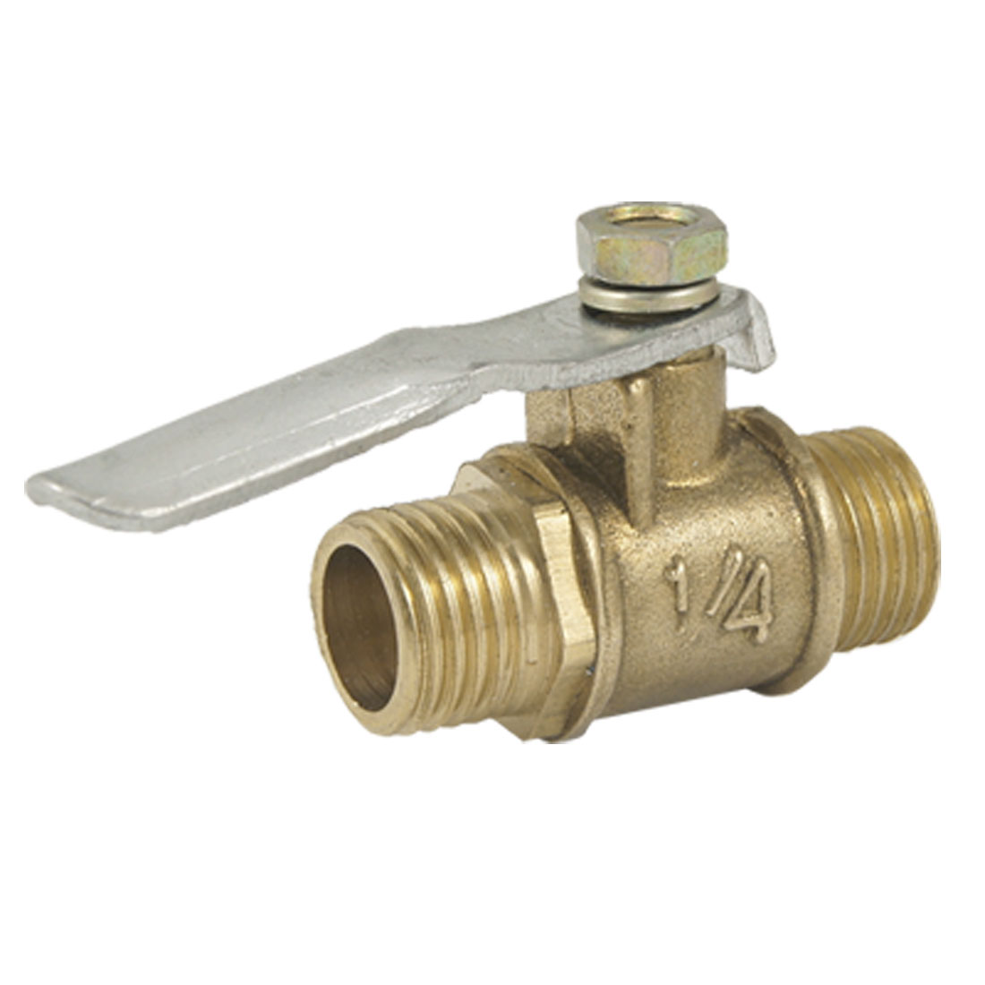 "1/4"" Male to 1/4"" Male Thread Brass Connector Ball Valve"